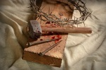 Crown of Thorns and Nails on Cross
