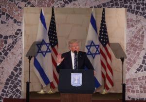 trump israelUS flags
